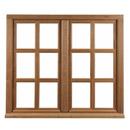 Fenêtre 2 vantaux en chêne Petits bois mortaisés