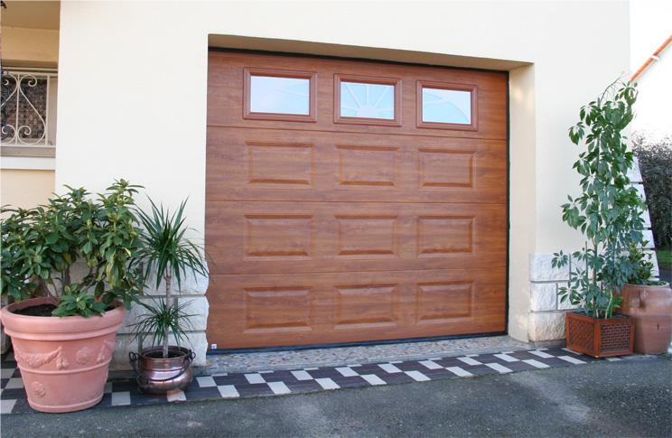 Portes De Garage Menuiserie Blanc - Porte de garage sectionnelle avec porte pvc renovation